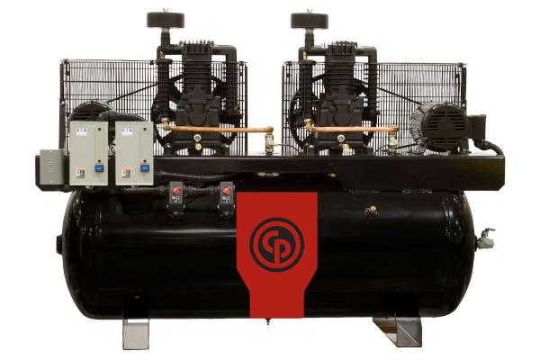 Chicago Pneumatic Power Tools & Compressors Two Stage Electric Duplex Compressors 10-15 hp for sale at Cisco Equipment, Texas and New Mexico