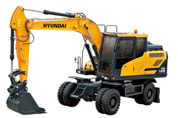 Hyundai | Wheeled Excavators | Model HW140 for sale at Cisco Equipment, Texas and New Mexico
