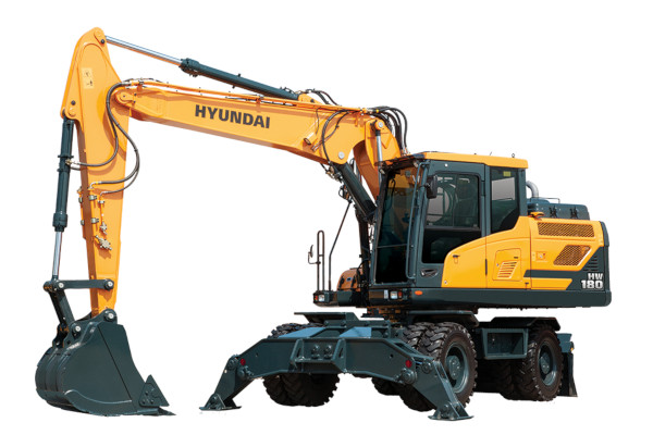 Hyundai | Wheeled Excavators | Model HW180 for sale at Cisco Equipment, Texas and New Mexico
