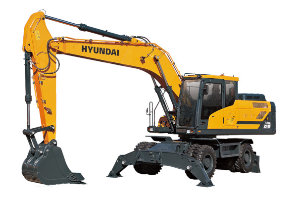 Hyundai | Wheeled Excavators | Model HW210 for sale at Cisco Equipment, Texas and New Mexico