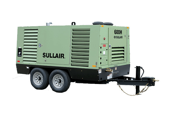 Sullair Compressed Air Solutions 600H Portable Air Compressor for sale at Cisco Equipment, Texas and New Mexico