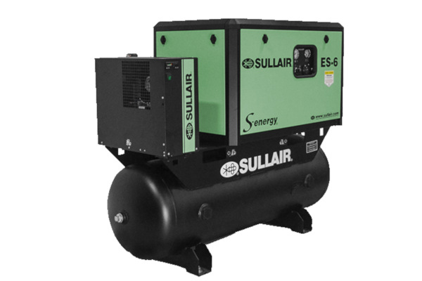 Sullair Compressed Air Solutions ES-6 S-energy® Encapsulated Rotary Screw Air Compressors for sale at Cisco Equipment, Texas and New Mexico