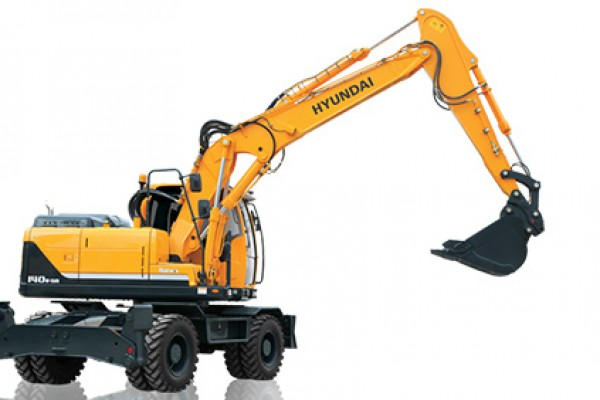 Hyundai | Wheeled Excavators | Model R140W-9A for sale at Cisco Equipment, Texas and New Mexico