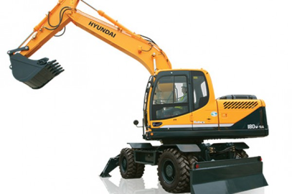 Hyundai | Wheeled Excavators | Model R180W-9A for sale at Cisco Equipment, Texas and New Mexico
